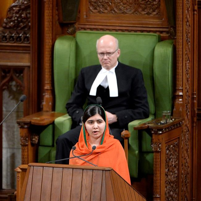 Malala becomes honorary Canadian, notes Trudeau's tattoos