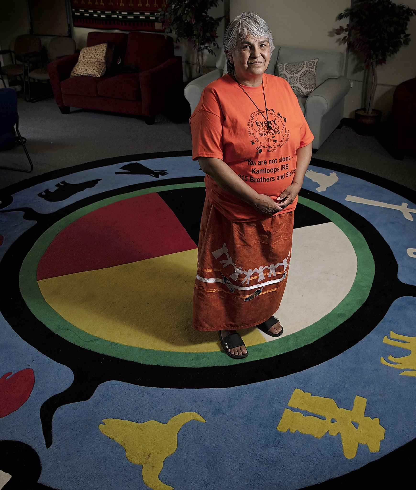 Martina Fisher, now a cultural support provider at Wa-Say Healing Centre, was forced into Assiniboia Residential School in her teens. (Alex Lupul / Winnipeg Free Press)
