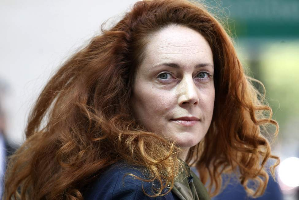 Rebekah Brooks, former chief executive of News International, leaves Westminster Magistrates' Courts after she was granted bail on charges of attempting to cover up tabloid phone-hacking, London, Wednesday, June 13, 2012.