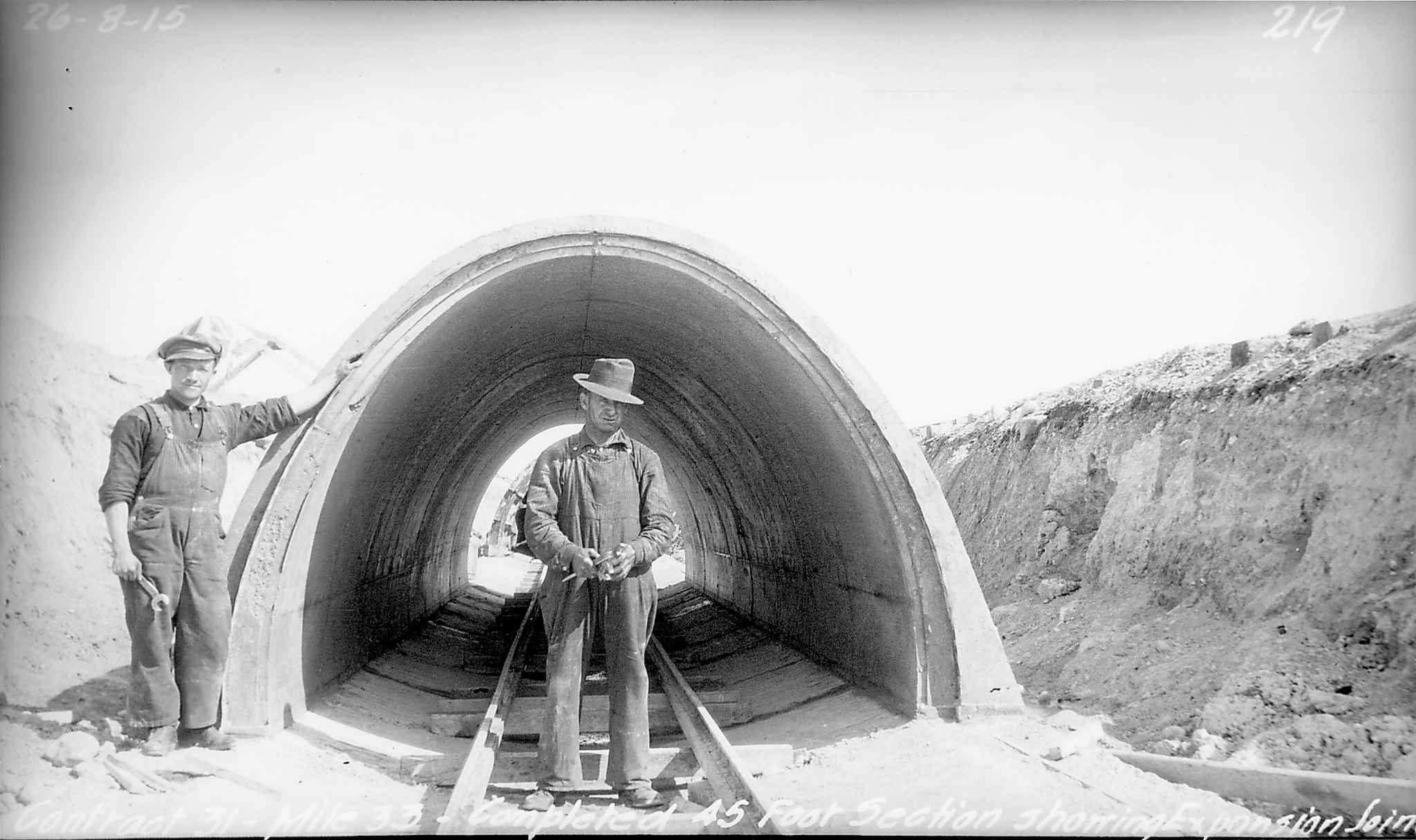 City of Winnipeg shoal lake  aqueduct circa. 1915.