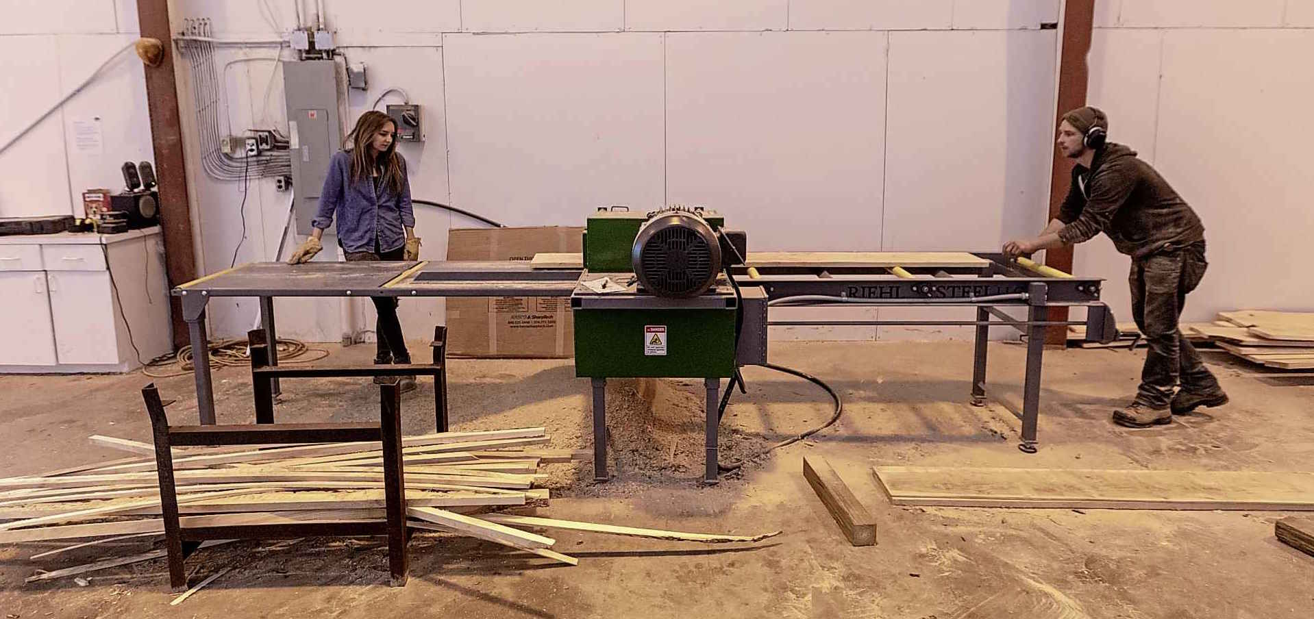 McGarry and his girlfriend Carlee turn diseased ash trees into usable lumber.