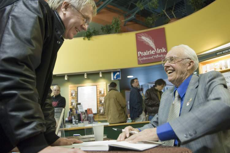 "2007: at McNally Robinson in Saskatoon, Albert L. Mewi, 88, ""Saskatoon's oldest realtor"" but the author of a new biography called ""As I Recall."" Mewis was on hand at McNally Robinson for a book signing and ran out of the first run of 75. At that point he started taking names for people wanting the book.  (Richard Marjan / PoOstmedia News Archives)"
