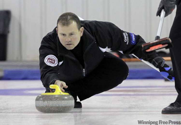 Rookie MLA Wayne Ewasko is skipping an undefeated team at the MCA Bonspiel. He played Roger Parker from Dauphin at the East St. Paul Curling Club on Saturday afternoon.