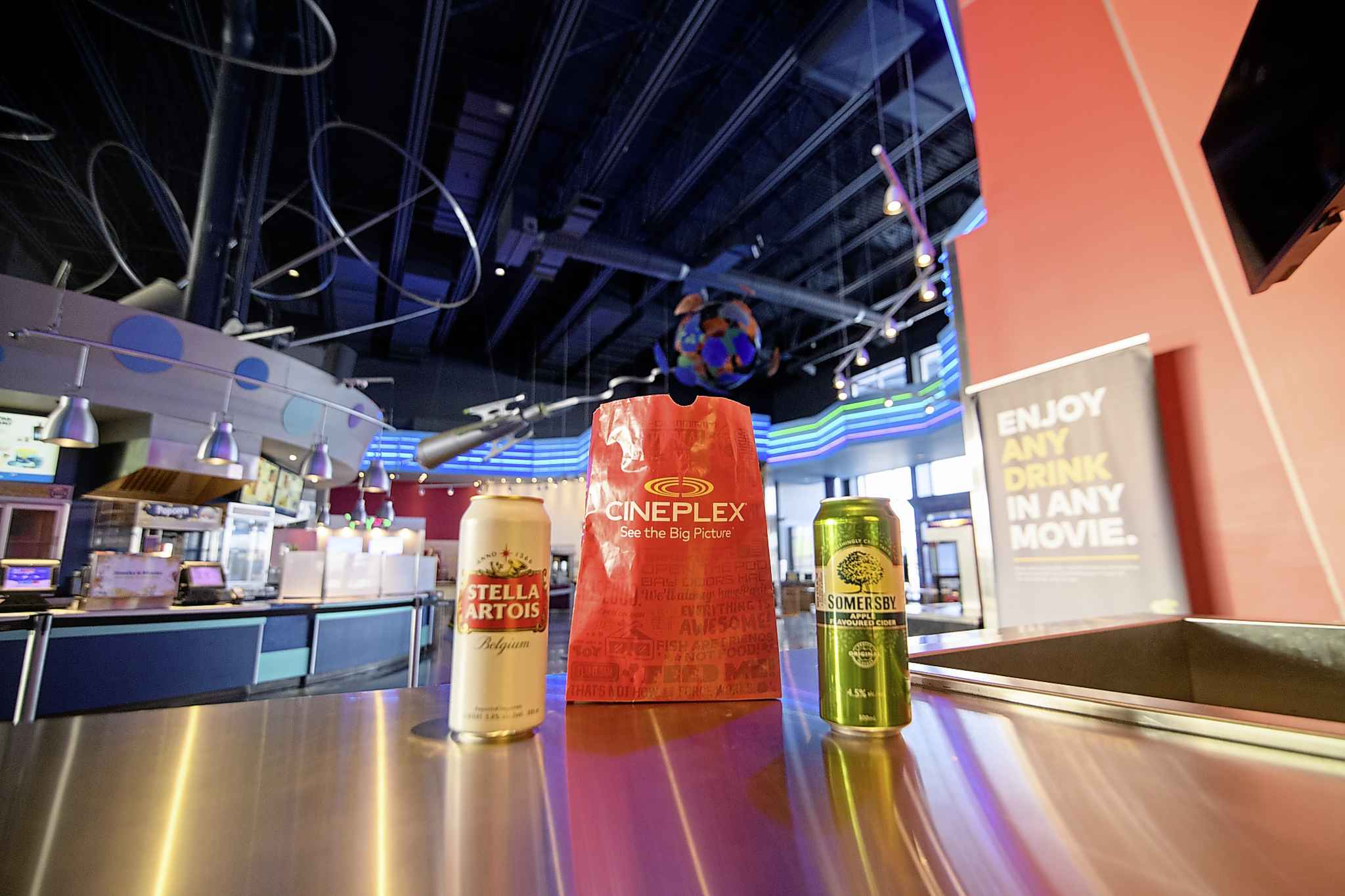 The theatres introduced the option of alcohol in late November, says Cineplex's director of communications, Sarah Van Lange. (Mike Sudoma / Winnipeg Free Press)