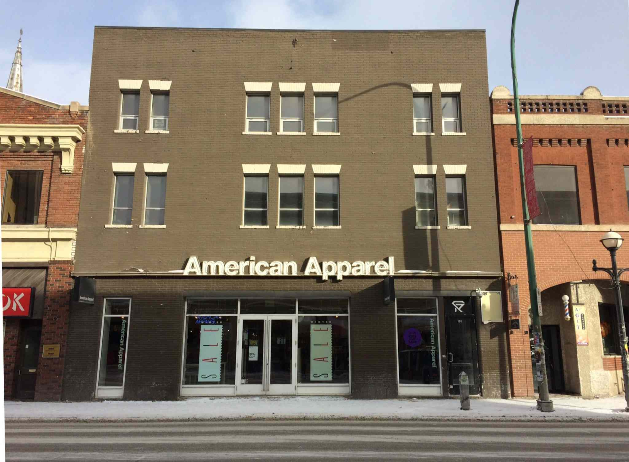 On the main floor, where American Apparel now sits, was the Alternative Cabaret/Village Cabaret.