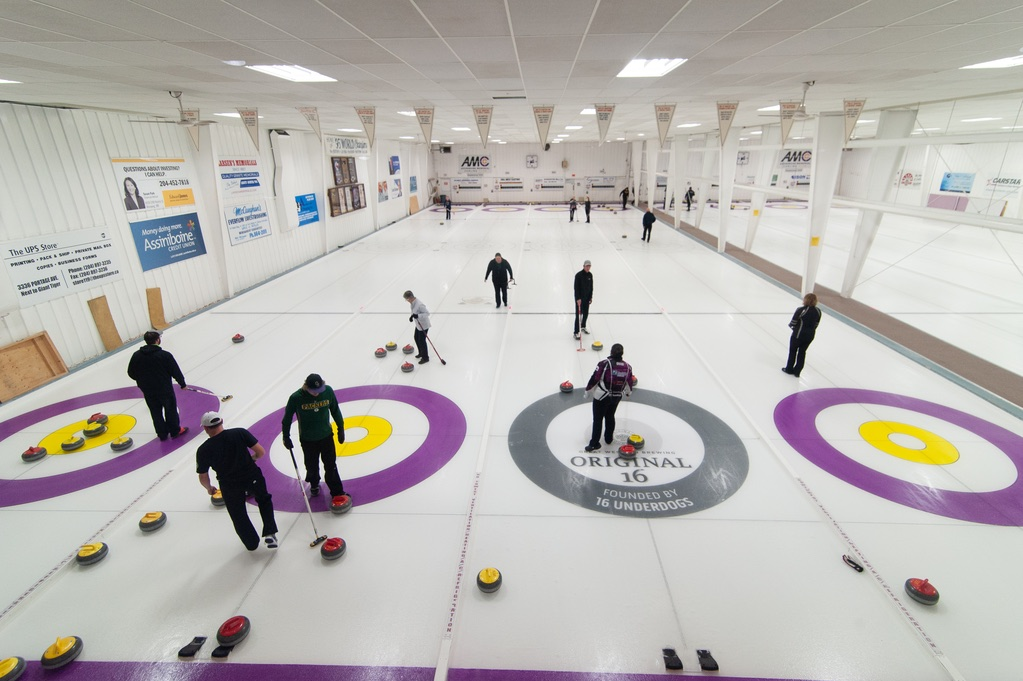 The ice was busy with league play at Assiniboine Curling Club Monday evening.