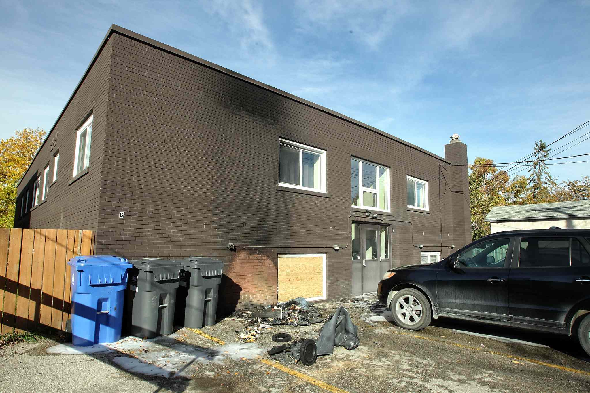A string of fires in St. Boniface — including one that caused the evacuation of an apartment building on De La Morenie Street — kept the Winnipeg Fire Department busy Saturday night.