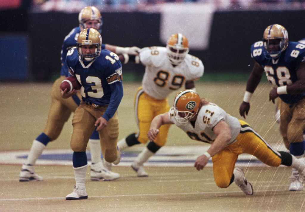 The last time the Blue Bombers won a Grey Cup was in 1990 when the Bombers defeated the Edmonton Eskimos, 50–11. (The Canadian Press files)