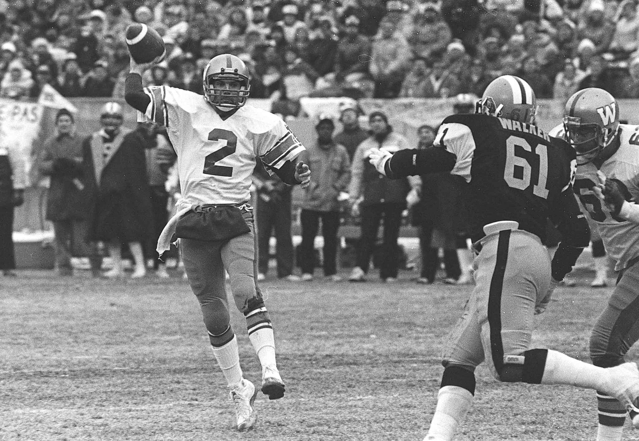 The Winnipeg Blue Bombers defeated the Hamilton Ti-Cats in the 1984 Grey Cup in Edmonton.