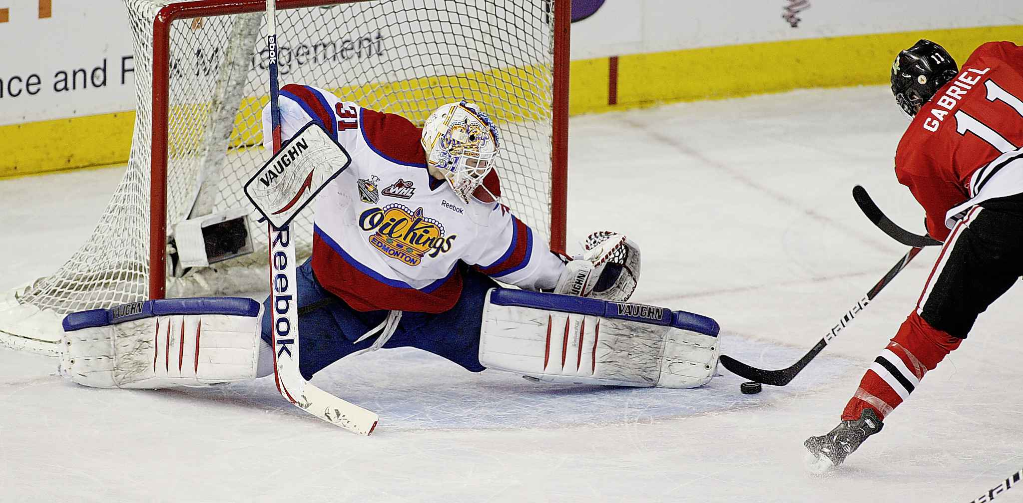 Brossoit during his time with the Western Hockey League's Edmonton Oil Kings in 2012.