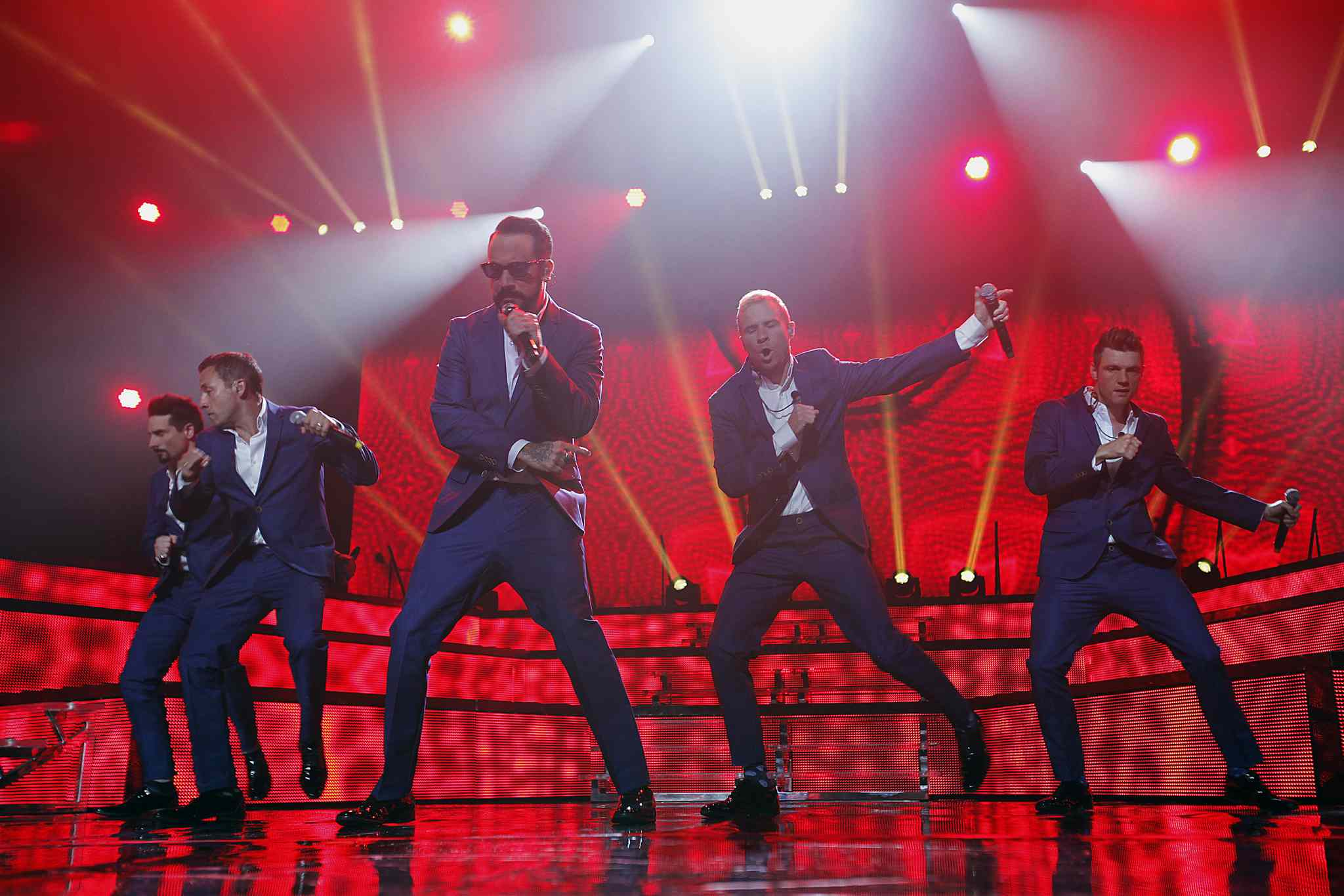 The Backstreet Boys perform at the MTS Centre Sunday night.