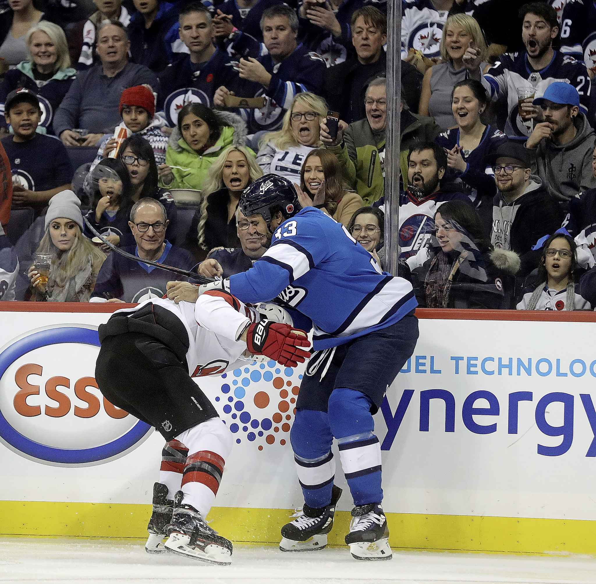 There have been many nights this year when the Jets could have used Dustin Byfuglien's ability to handle the physical side of NHL hockey.