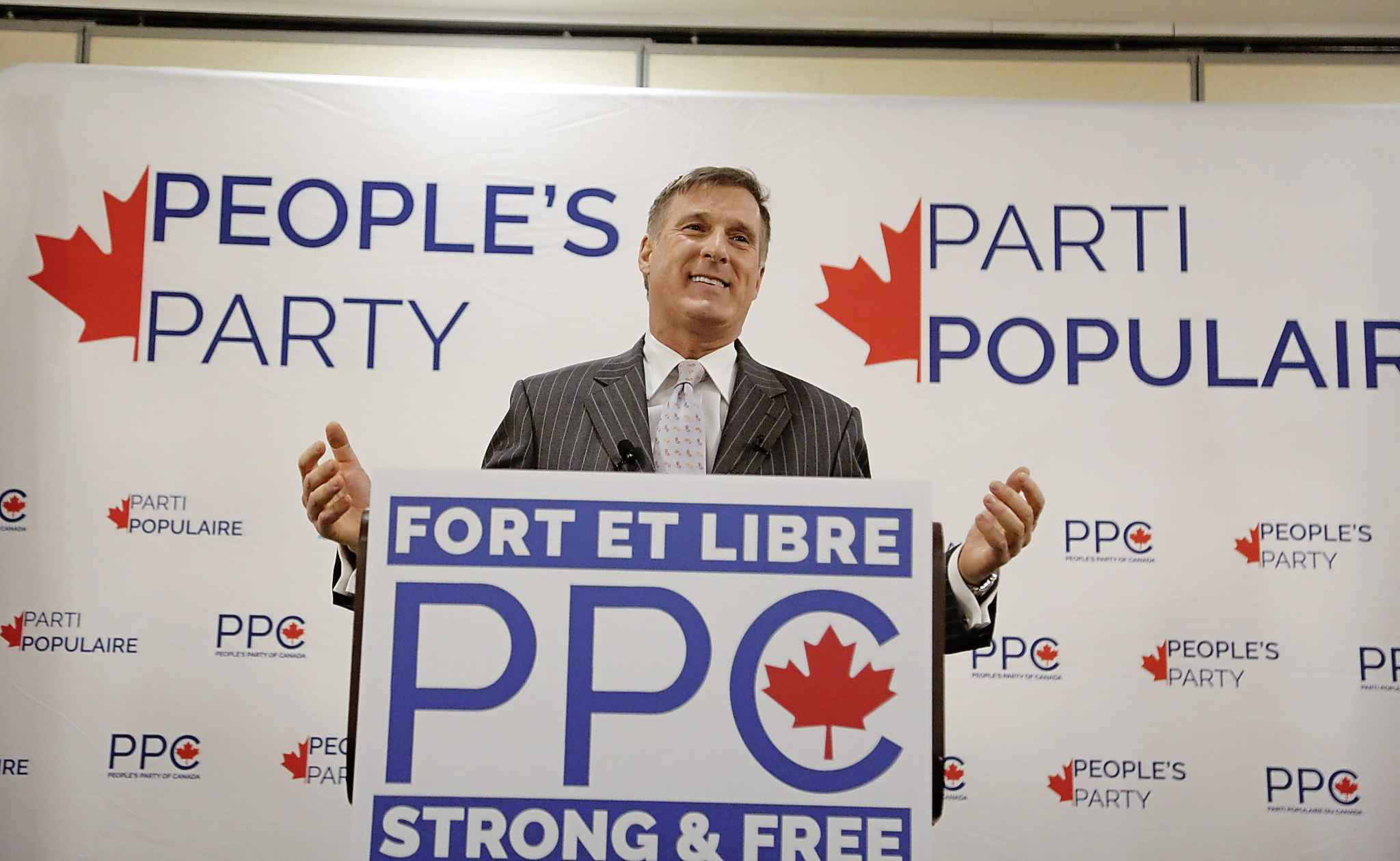Maxime Bernier says his new party has recruited 30,000 members, raised nearly a half-million dollars and set up 229 of the 338 riding associations needed to run a candidate in every federal constituency. (Patrick Doyle / The Canadian Press files)