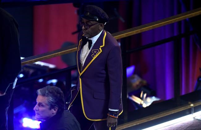 Spike Lee is seen before the start of the Oscars on Sunday, Feb. 9, 2020, at the Dolby Theatre in Los Angeles. (AP Photo/Chris Pizzello)