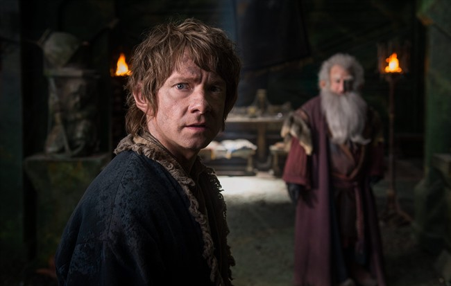 In this image released by Warner Bros. Pictures, Martin Freeman appears in a scene from the film,