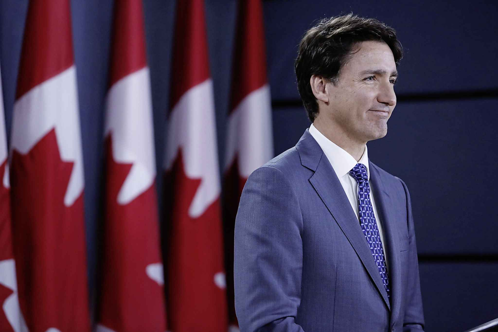 Prime Minister Justin Trudeau said he agrees with the need for compensation, but the deadline to come up with a plan is not enough time. (David Kawai / Bloomberg files)