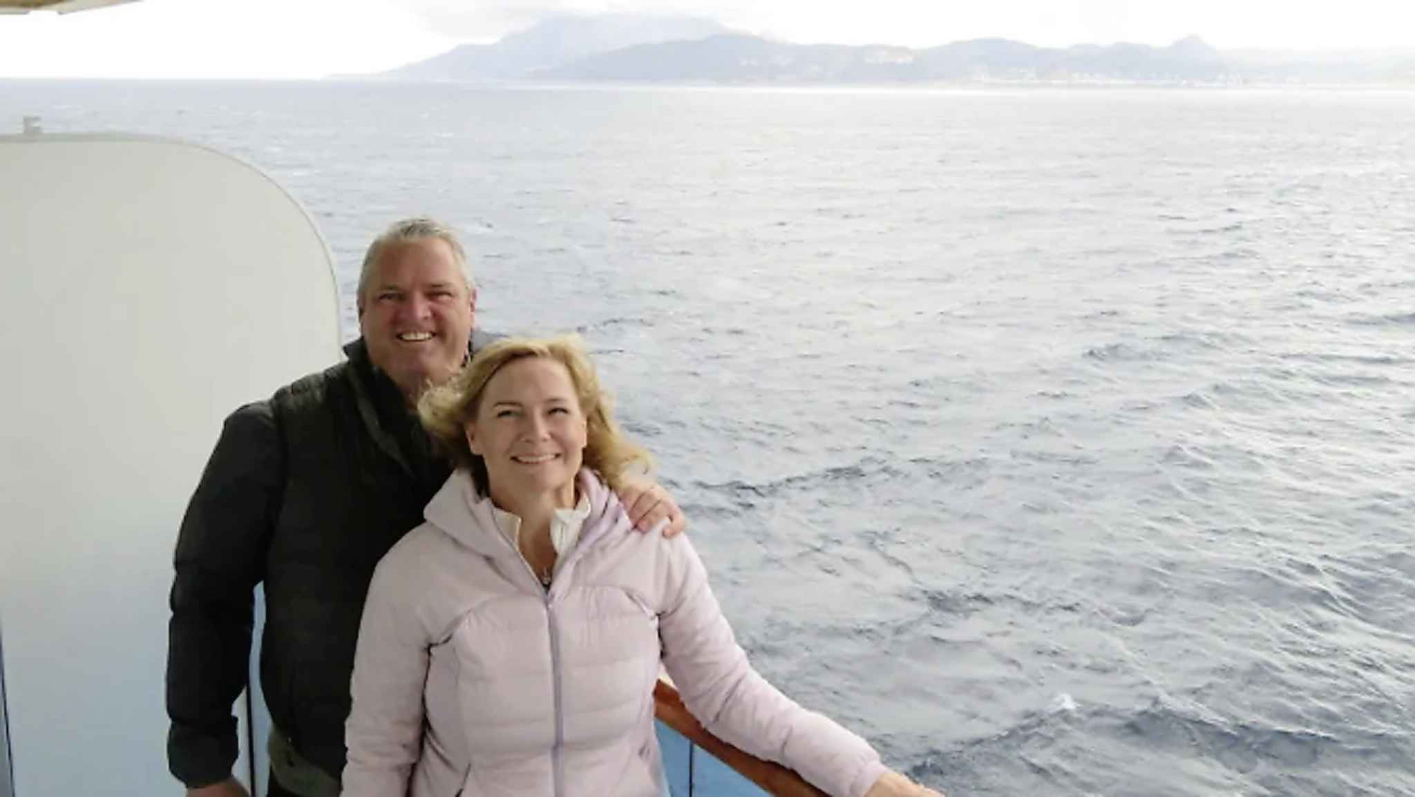 Winnipeggers Al and Martha Bradbury were on a cruise ship where passengers later tested positive for COVID-19. They told CBC News they didn't experience typical symptoms of the virus. (Submitted by Martha Bradbury for CBC News)