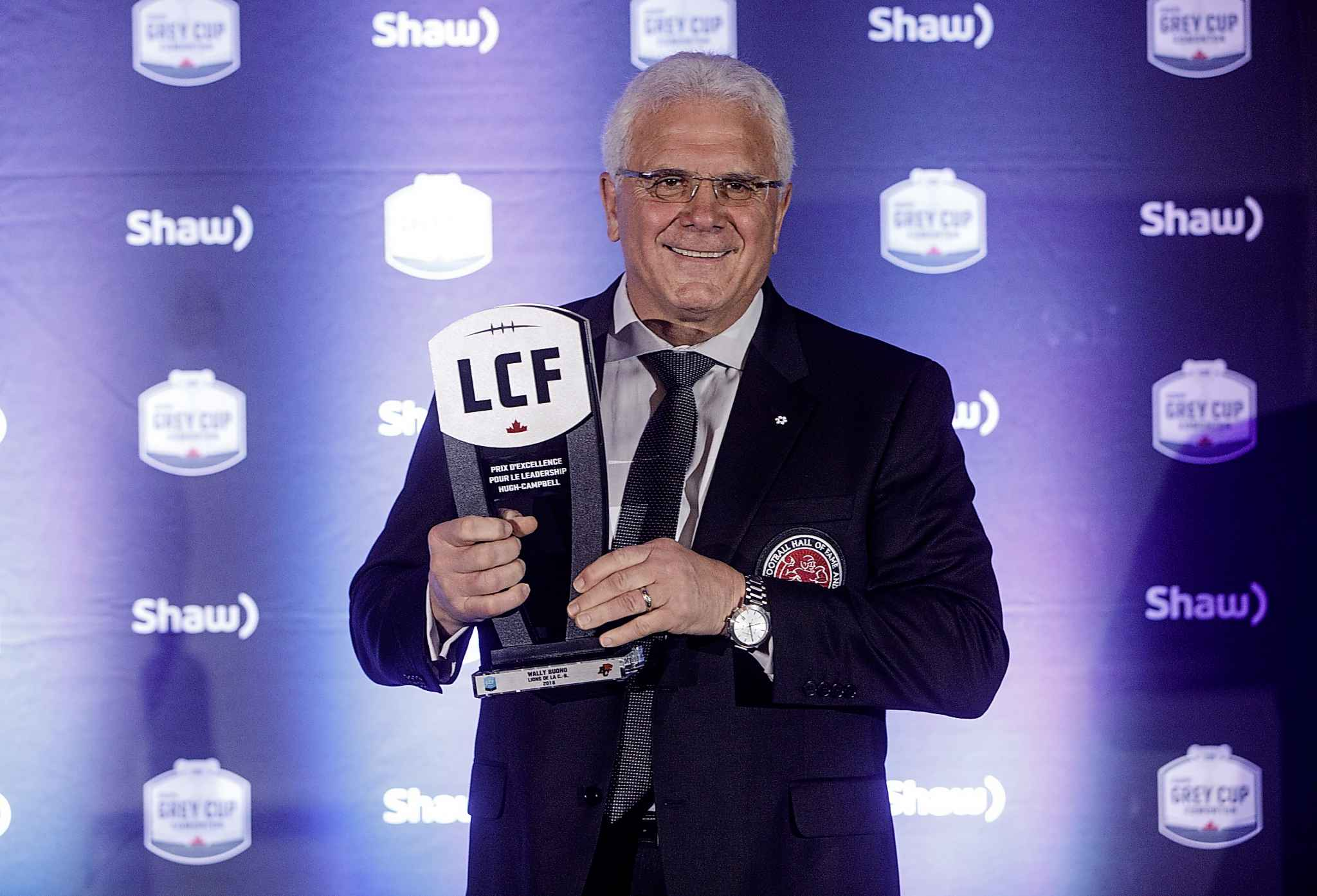 Winner of the Hugh Campbell Distinguished Leadership Award, Wally Buono.