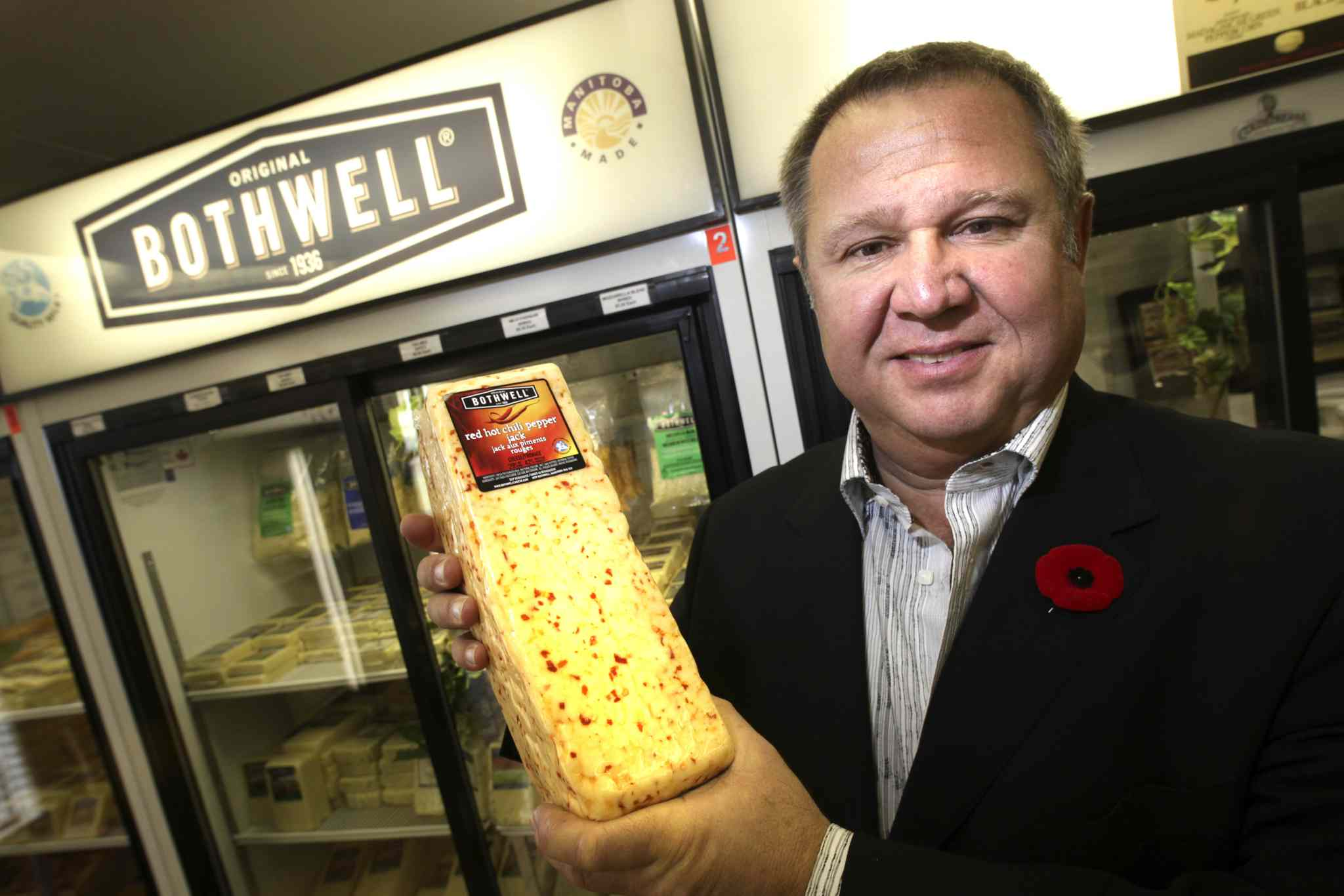 Ivan Balenovic, president and CEO of Bothwell Cheese, at the site of their plant in New Bothwell. The cheese company continues to win awards.