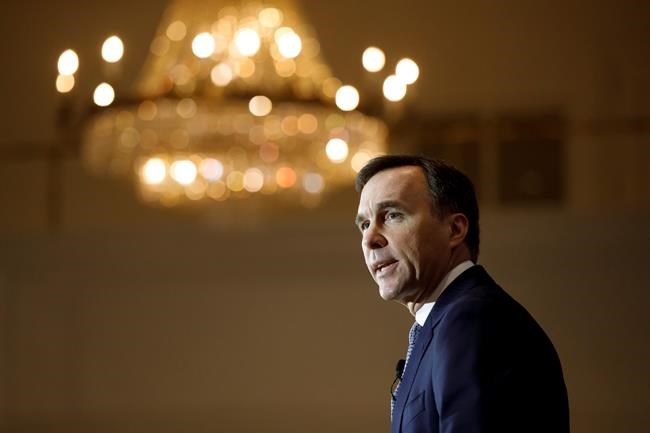 Canada's Minister of Finance Bill Morneau speaks to the Canadian Club of Canada in Toronto, Friday, March 6, 2020. THE CANADIAN PRESS/Cole Burston