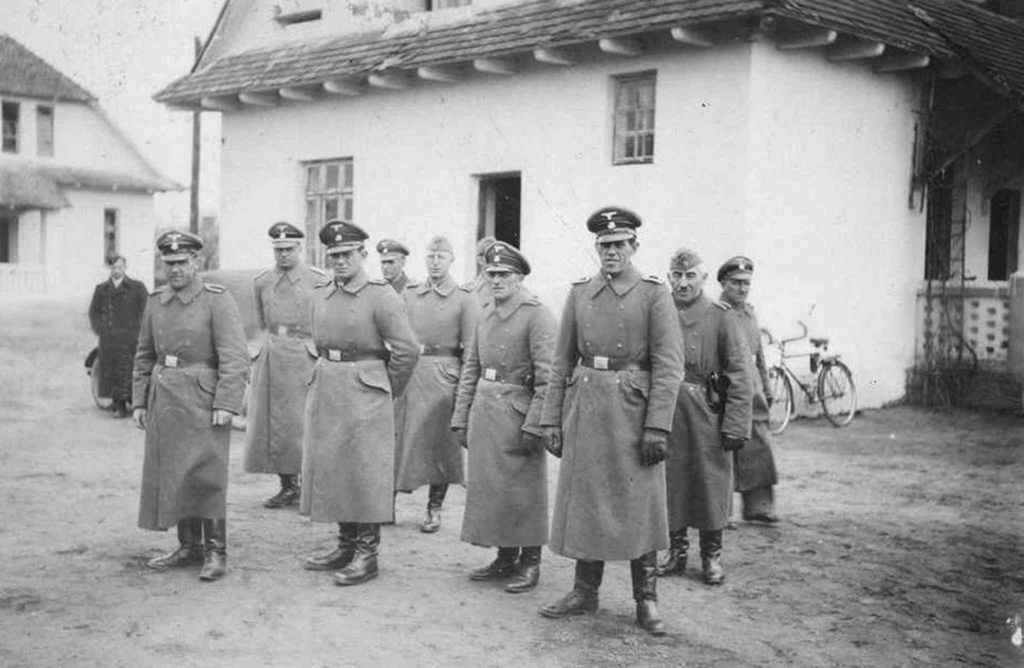 Nazi guards at the Belzec death camp in occupied Poland in 1942. (Yad Vashem / The Associated Press Archives)