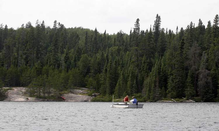 Mercury research is conducted on Lake 658 at the Experimental Lakes Area near Lyng, ON, July 28, 2008.