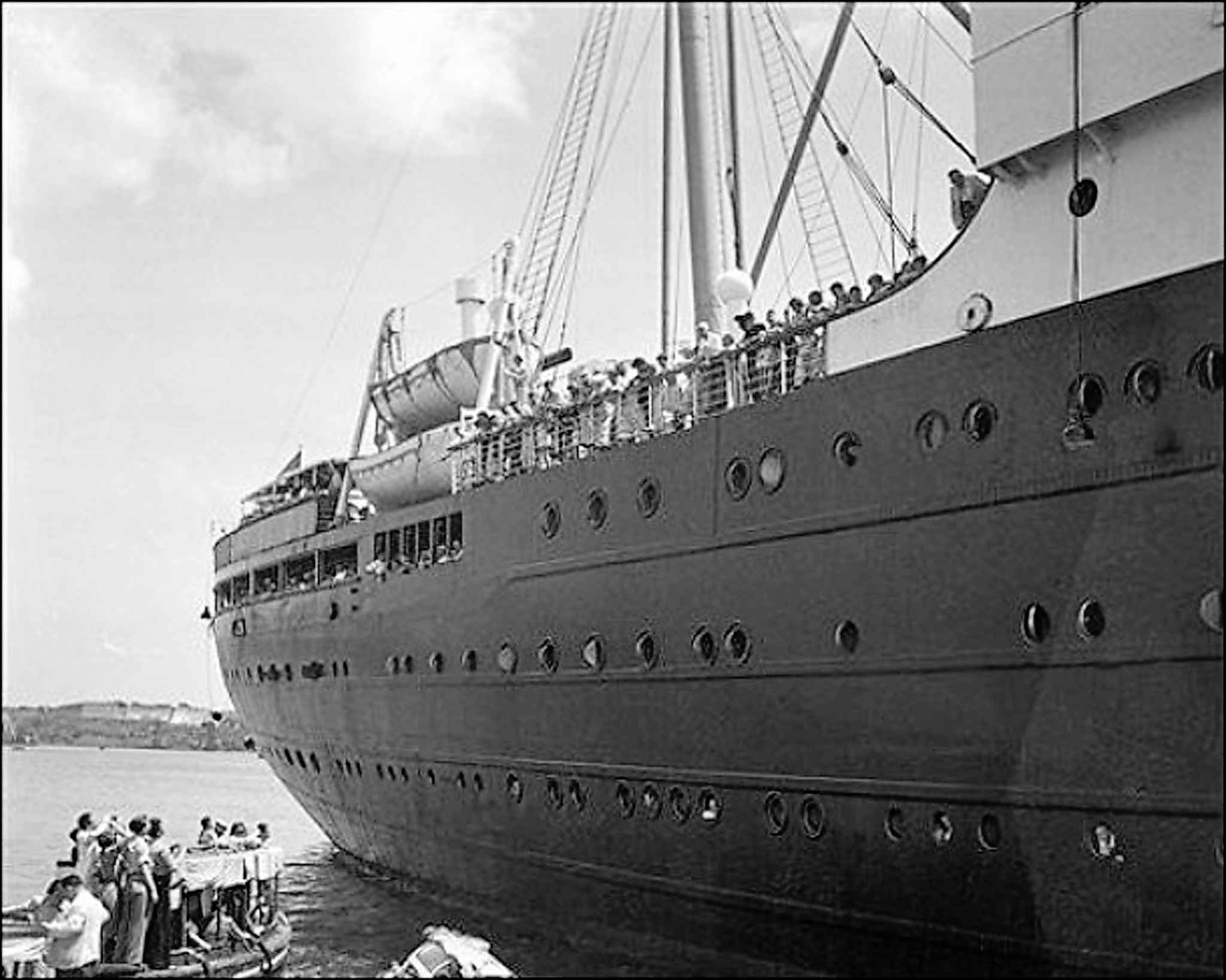 The MS St. Louis was denied entry into Cuba, the United States and Canada in 1939. (The Canadian Press files)