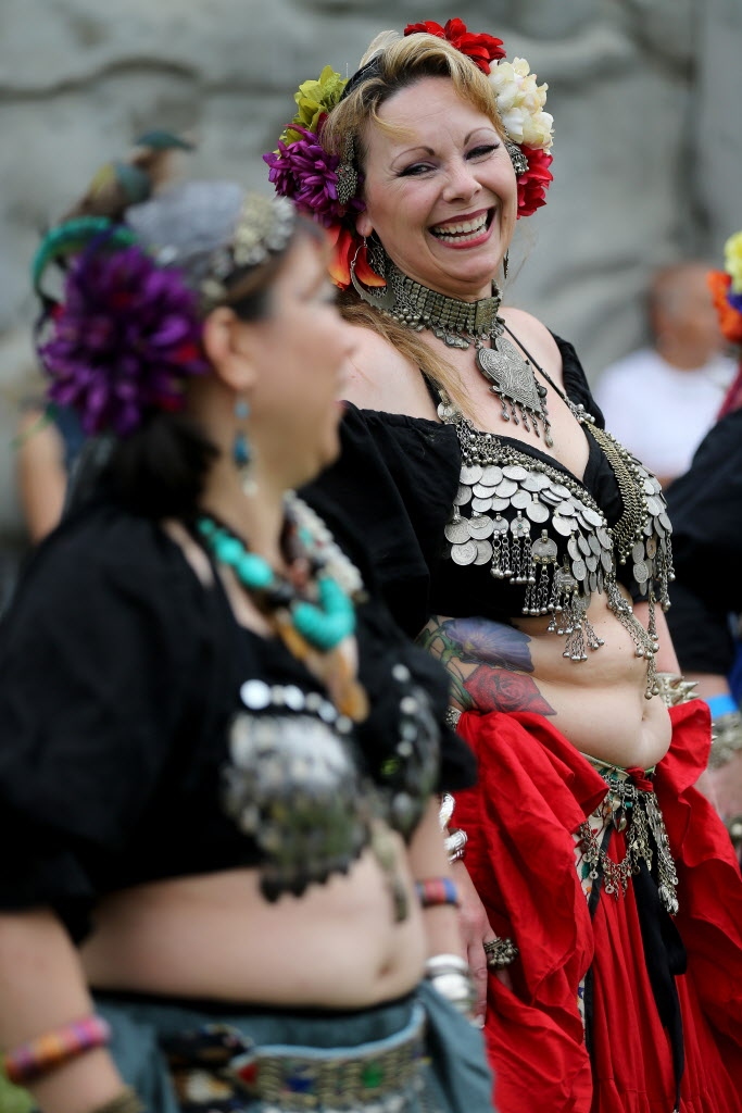 The Tribal Belly Dancers perform at the Saturday event in Cooks Creek.