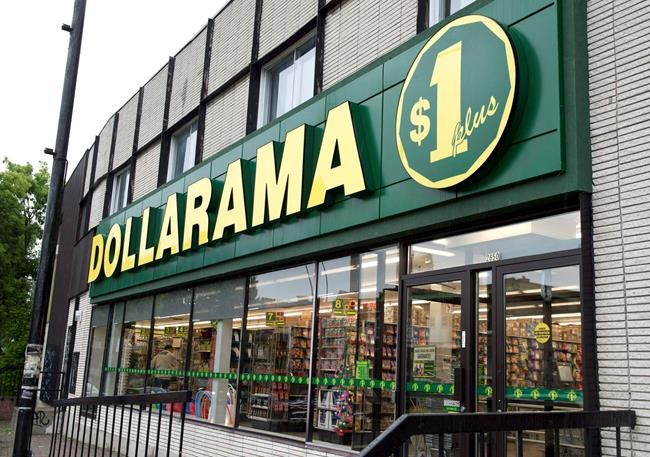 A Dollarama store is seen in Montreal on June 11, 2013. Discount retailer Dollarama Inc. says it earned $103.5 million in its latest quarter, up from $101.5 million a year ago, as revenue grew by 9.5 per cent. The company says the profit amounted to 33 cents per diluted common share for the quarter ended May 5 compared with 31 cents per diluted common share a year ago. THE CANADIAN PRESS/Paul Chiasson