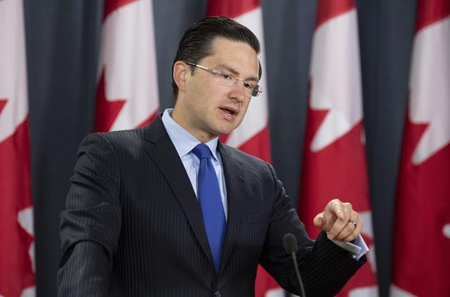 """Some believe an individual such as Ontario's Pierre Poilievre has an excellent chance of winning the leadership because he is probably the """"most conservative"""" of the potential candidates. (Adrian Wyld / The Canadian Press)"""