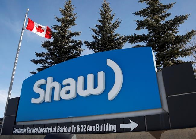 A Shaw Communications sign at the company's headquarters in Calgary, Wednesday, Jan. 14, 2015. Shaw Announces First Quarter Fiscal 2018 Results Positive and sustainable momentum building in Wireless THE CANADIAN PRESS/Jeff McIntosh