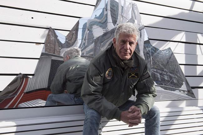 Anthony Bourdain poses for a photo during an interview with The Canadian Press in Toronto on Monday, October 31, 2016. Renowned chef Anthony Bourdain has been found dead in France while working on CNN program. THE CANADIAN PRESS/Frank Gunn