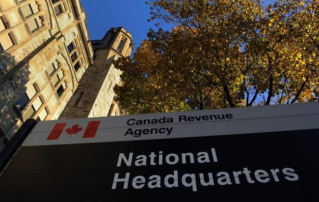 The Canada Revenue Agency headquarters in Ottawa is shown on November 4, 2011. The Canada Revenue Agency says its online services have gone offline and isn't providing a timeline for their return. The agency is apologizing in a tweet for the cut in services this morning, saying officials are looking into the problem. Some Twitter users responding online note the agency's services appear to have been down since last night. THE CANADIAN PRESS/Sean Kilpatrick