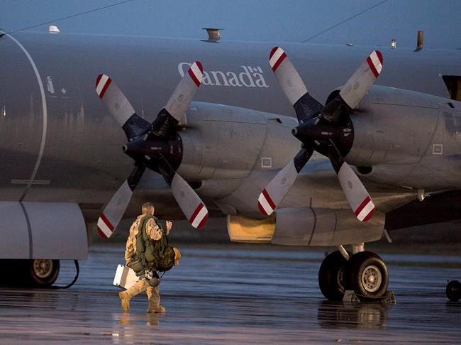 A CP-140M Aurora reconnaissance aircraft prepares to leave CFB Greenwood in Nova Scotia's Annapolis Valley on Friday, October 24, 2014.THE CANADIAN PRESS/Andrew Vaughan