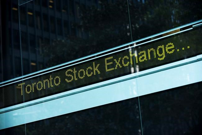A Toronto Stock Exchange ticker is seen at The Exchange Tower in Toronto on Thursday, August 18 2011. THE CANADIAN PRESS/Aaron Vincent Elkaim