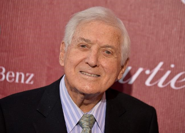 "Monty Hall arrives at the Palm Springs International Film Festival Awards Gala at the Palm Springs Convention Center in Palm Springs, Calif. on Jan. 4, 2014. Canadian born ""Let's Make a Deal"" game show host and philanthropist Monty Hall dies at 96.THE CANADIAN PRESS/AP, Jordan Strauss, Invision"