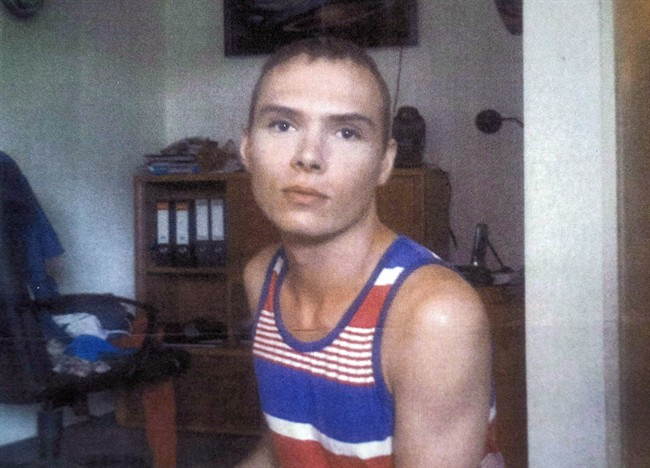 Luka Rocco Magnotta is pictured in Berlin in a court photo. THE CANADIAN PRESS/HO