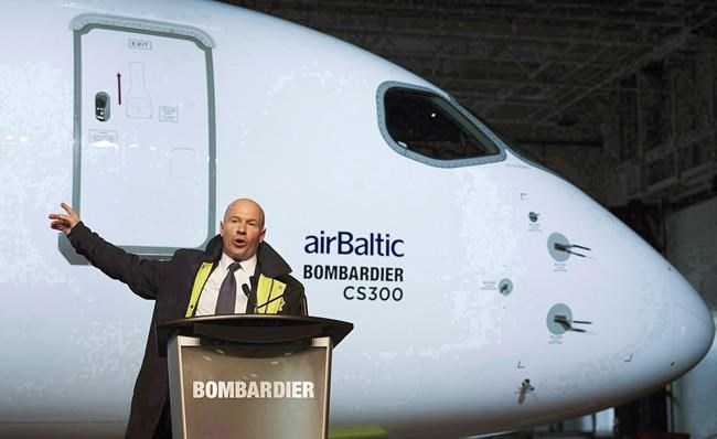 Quebec pension fund withholding support for Bombardier executive chairman