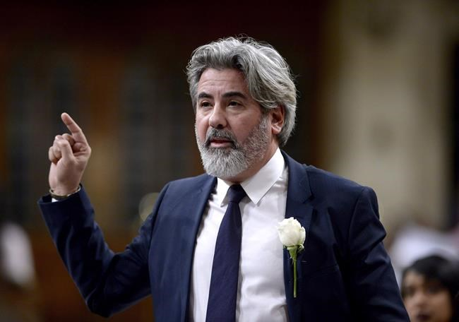 Minister of Canadian Heritage and Multiculturalism Pablo Rodriguez rises during Question Period in the House of Commons on Parliament Hill in Ottawa on Thursday, Dec. 6, 2018. The Liberal government is inviting eight news associations to nominate candidates to a panel that will help figure out which media outlets will be eligible to benefit from a controversial, $595-million package to support the struggling industry. THE CANADIAN PRESS/Justin Tang