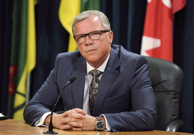 Former Saskatchewan premier Brad Wall has been hired to complete a review of Manitoba Hydro mega-projects. (Mark Taylor / Canadian Press files)