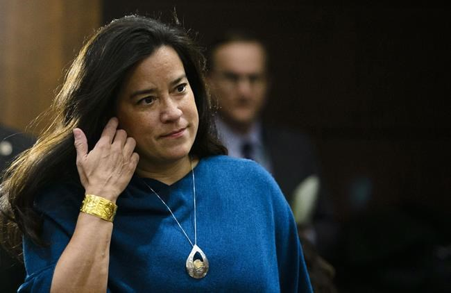 Jody Wilson-Raybould appears at the House of Commons Justice Committee on Parliament Hill in Ottawa on Wednesday, Feb. 27, 2019. Wilson-Raybould says the justice system did its work, the rule of law is being upheld and it is time for SNC-Lavalin to look to its future. THE CANADIAN PRESS/Sean Kilpatrick
