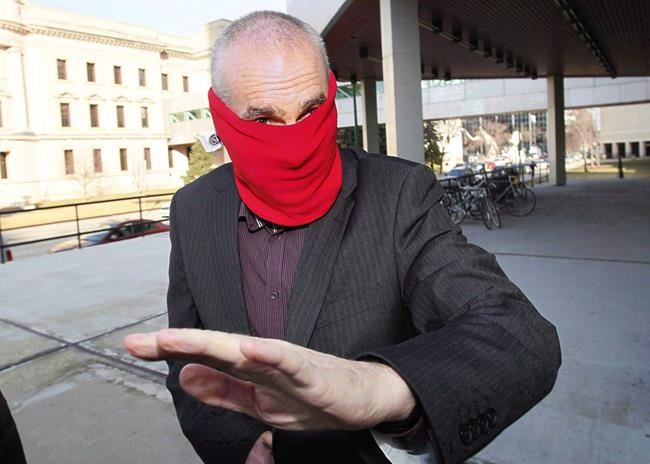 James, prior to his 2012 court sentencing in Winnipeg, where he pleaded guilty to sexually assaulting Theoren Fleury and Todd Holt.  (John Woods / The Canadian Press files)