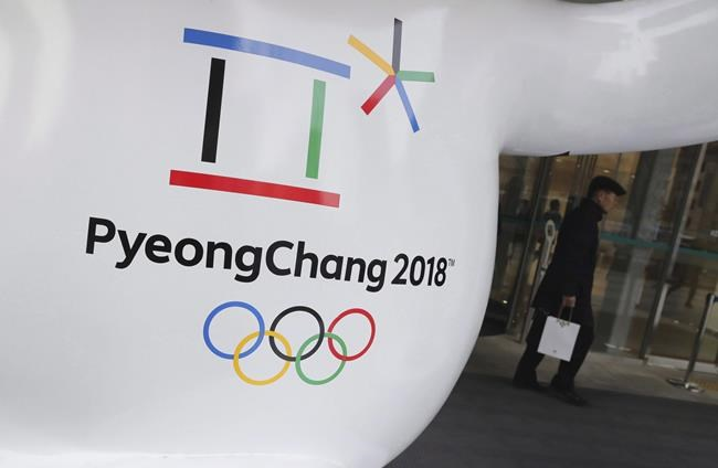 The official emblem of the 2018 Pyeongchang Olympic Winter Games is seen in downtown Seoul, South Korea on January 4, 2018. Climate change could turn out to be the Winter Olympics' biggest spoil sport. THE CANADIAN PRESS/AP, Lee Jin-man