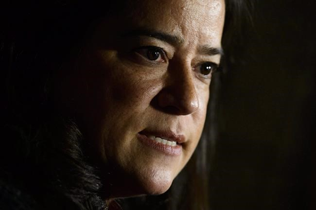 Jody Wilson-Raybould, Minister of Justice and Attorney General of Canada, makes an announcement on Parliament Hill in Ottawa on Thursday, Oct. 18, 2018. The time-honoured tenet of solicitor-client privilege - usually discussed in courtrooms and law-school textbooks - is becoming a central point of debate in a brewing political controversy over whether the prime minister's aides put undue pressure on a former attorney general. THE CANADIAN PRESS/Sean Kilpatrick