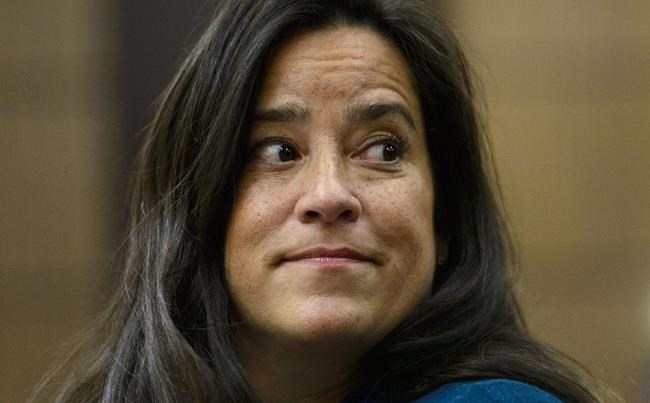 Jody Wilson-Raybould appears at the House of Commons Justice Committee on Parliament Hill in Ottawa on Wednesday, Feb. 27, 2019. Jody Wilson-Raybould recommended in 2017 that Prime Minister Justin Trudeau nominate a conservative Manitoba judge to be chief justice of the Supreme Court, even though he wasn't a sitting member of the top court and had been a vocal critic of its activism on Charter of Rights issues, The Canadian Press has learned. THE CANADIAN PRESS/Sean Kilpatrick