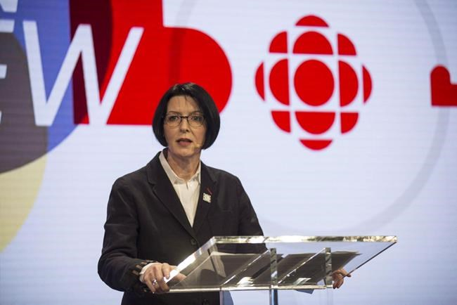 "Heather Conway speaks during the CBC season preview event in Toronto on Thursday, May 26, 2016. The woman in charge of CBC's English-language TV, radio, and online services is leaving the public broadcaster. Conway says she will ""pursue other opportunities"" after five years overseeing all platforms, including CBC-TV, CBC News Network, CBC Radio One and Two and CBC.ca. THE CANADIAN PRESS/Eduardo Lima"