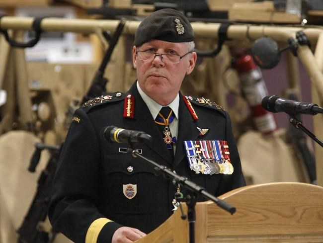 Chief of the Defence Staff General Jonathan Vance speaks at a Canadian Special Operations Forces Command change of command ceremony in Ottawa on Wednesday, April 25, 2018. Defence chief Gen. Jonathan Vance says he takes cold comfort from the fact the number of military sexual assaults reported to authorities skyrocketed last year, after one of his officers suggested the increase represented a sign of progress in the fight against such behaviour. THE CANADIAN PRESS/Patrick Doyle