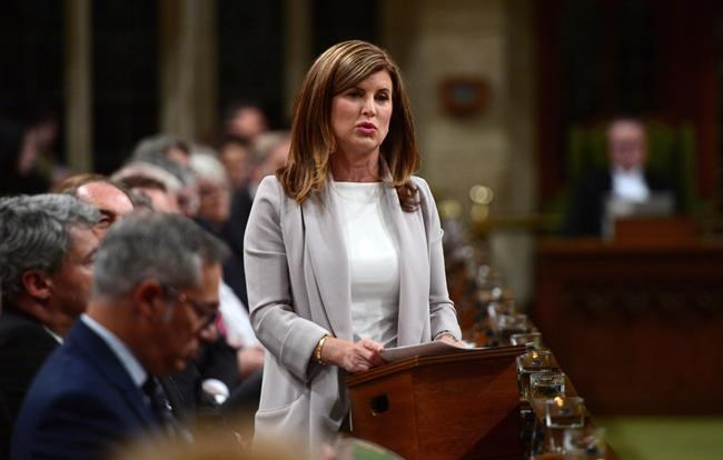 Interim Conservative leader Rona Ambrose asks a question during question period in the House of Commons on Parliament Hill in Ottawa on Tuesday, May 16, 2017. Now that Andrew Scheer has revealed his decision to resign as Conservative leader, the party will start getting ready for the race to replace him. THE CANADIAN PRESS/Sean Kilpatrick