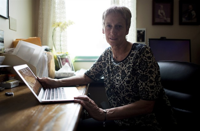Dr. Ellen Wiebe is pictured in her Vancouver office Wednesday, March. 9, 2016. A major British Columbia health authority has updated its guidelines for medical staff on how to respond to requests for assisted death, allowing doctors and nurses to refer patients to a colleague.THE CANADIAN PRESS/Jonathan Hayward