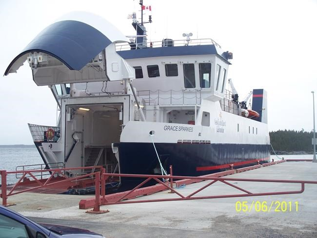 A $6-million ferry service for an island of about 120 residents is highlighting Newfoundland and Labrador's overspending crisis. The MV Grace Sparks ferry boat is seen in this undated handout image. THE CANADIAN PRESS/HO-Government of Newfoundland and Labrador, *MANDATORY CREDIT*